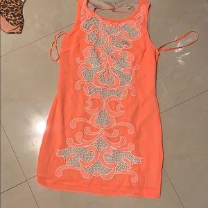 Gorgeous Coral dress Gianni Bini size M